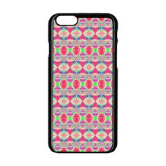 Pretty Pink Shapes Pattern Apple Iphone 6/6s Black Enamel Case by BrightVibesDesign