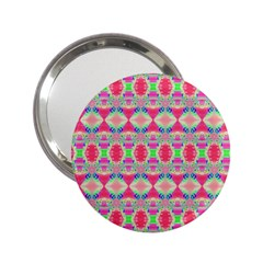 Pretty Pink Shapes Pattern 2 25  Handbag Mirrors by BrightVibesDesign