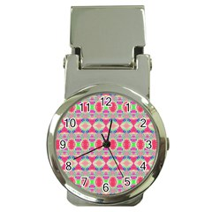Pretty Pink Shapes Pattern Money Clip Watches by BrightVibesDesign
