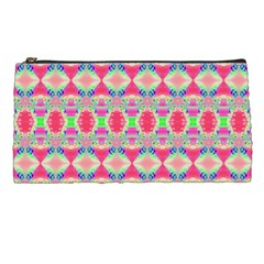 Pretty Pink Shapes Pattern Pencil Cases by BrightVibesDesign