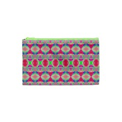 Pretty Pink Shapes Pattern Cosmetic Bag (xs) by BrightVibesDesign