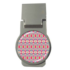Pretty Pink Shapes Pattern Money Clips (round)  by BrightVibesDesign