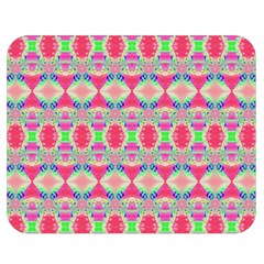Pretty Pink Shapes Pattern Double Sided Flano Blanket (medium)  by BrightVibesDesign