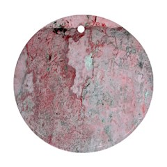 Coral Pink Abstract Background Texture Ornament (round) by CrypticFragmentsDesign