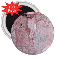 Coral Pink Abstract Background Texture 3  Magnet (100 Pack)