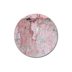Coral Pink Abstract Background Texture Magnet 3  (round) by CrypticFragmentsDesign