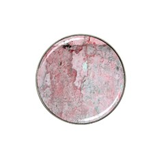Coral Pink Abstract Background Texture Hat Clip Ball Marker by CrypticFragmentsDesign