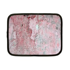 Coral Pink Abstract Background Texture Netbook Case (small) by CrypticFragmentsDesign