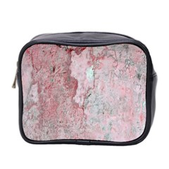 Coral Pink Abstract Background Texture Mini Toiletries Bag (two Sides) by CrypticFragmentsDesign