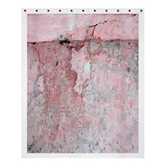 Coral Pink Abstract Background Texture Shower Curtain 60  X 72  (medium) by CrypticFragmentsDesign