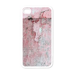Coral Pink Abstract Background Texture Apple Iphone 4 Case (white) by CrypticFragmentsDesign