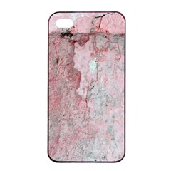 Coral Pink Abstract Background Texture Apple Iphone 4/4s Seamless Case (black) by CrypticFragmentsDesign