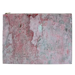 Coral Pink Abstract Background Texture Cosmetic Bag (xxl) by CrypticFragmentsDesign