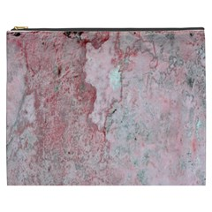 Coral Pink Abstract Background Texture Cosmetic Bag (xxxl) by CrypticFragmentsDesign