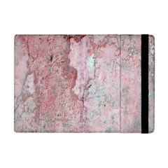 Coral Pink Abstract Background Texture Apple Ipad Mini Flip Case by CrypticFragmentsDesign