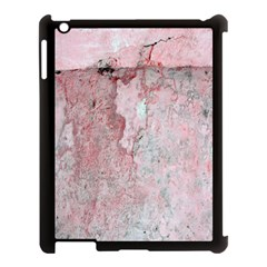 Coral Pink Abstract Background Texture Apple Ipad 3/4 Case (black) by CrypticFragmentsDesign