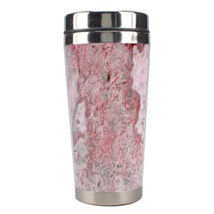 Coral Pink Abstract Background Texture Stainless Steel Travel Tumbler by CrypticFragmentsDesign