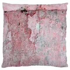 Coral Pink Abstract Background Texture Large Flano Cushion Case (one Side) by CrypticFragmentsDesign