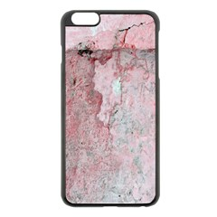 Coral Pink Abstract Background Texture Apple Iphone 6 Plus/6s Plus Black Enamel Case by CrypticFragmentsDesign