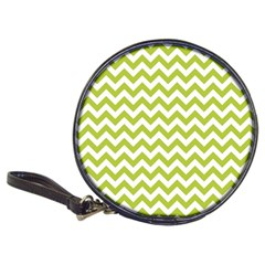 Spring Green & White Zigzag Pattern One Piece Boyleg Swimsuit Classic 20 Cd Wallet