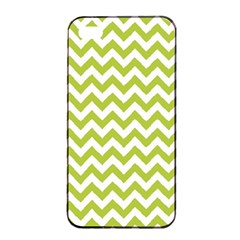 Spring Green & White Zigzag Pattern One Piece Boyleg Swimsuit Apple Iphone 4/4s Seamless Case (black) by Zandiepants