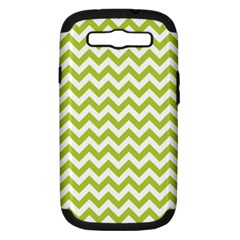 Spring Green & White Zigzag Pattern One Piece Boyleg Swimsuit Samsung Galaxy S Iii Hardshell Case (pc+silicone)