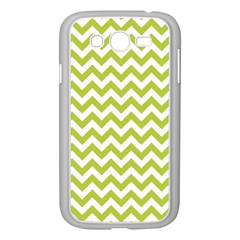 Spring Green & White Zigzag Pattern One Piece Boyleg Swimsuit Samsung Galaxy Grand Duos I9082 Case (white)