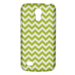 Spring Green & White Zigzag Pattern One Piece Boyleg Swimsuit Samsung Galaxy S4 Mini (gt I9190) Hardshell Case