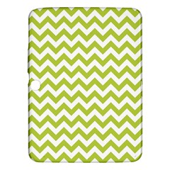 Spring Green & White Zigzag Pattern One Piece Boyleg Swimsuit Samsung Galaxy Tab 3 (10 1 ) P5200 Hardshell Case