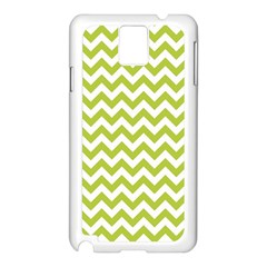 Spring Green & White Zigzag Pattern One Piece Boyleg Swimsuit Samsung Galaxy Note 3 N9005 Case (white) by Zandiepants