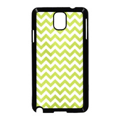 Spring Green & White Zigzag Pattern One Piece Boyleg Swimsuit Samsung Galaxy Note 3 Neo Hardshell Case (black)