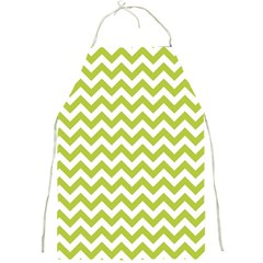 Spring Green & White Zigzag Pattern Full Print Apron