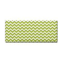 Spring Green & White Zigzag Pattern Hand Towel