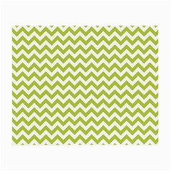 Spring Green & White Zigzag Pattern Small Glasses Cloth (2 Sides)