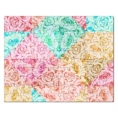 A Rose Is A Rose Rectangular Jigsaw Puzzl by hennigdesign