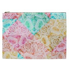 A Rose Is A Rose Cosmetic Bag (xxl)  by hennigdesign