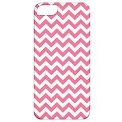 Soft Pink & White Zigzag Pattern Apple Iphone 5 Classic Hardshell Case by Zandiepants