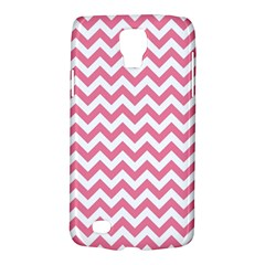 Soft Pink & White Zigzag Pattern Samsung Galaxy S4 Active (i9295) Hardshell Case by Zandiepants
