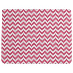 Soft Pink & White Zigzag Pattern Jigsaw Puzzle Photo Stand (rectangular) by Zandiepants
