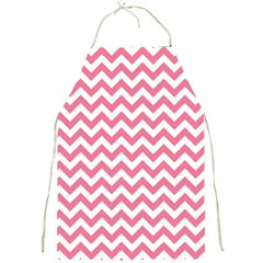 Soft Pink & White Zigzag Pattern Full Print Apron by Zandiepants