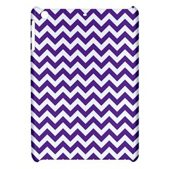 Royal Purple & White Zigzag Pattern Apple Ipad Mini Hardshell Case by Zandiepants