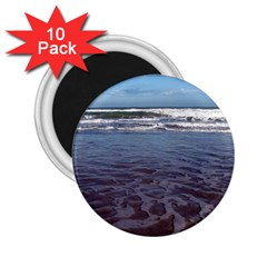 Ocean Surf Beach Waves 2 25  Magnets (10 Pack)  by CrypticFragmentsColors