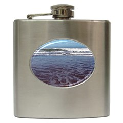 Ocean Surf Beach Waves Hip Flask (6 Oz) by CrypticFragmentsColors