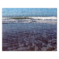 Ocean Surf Beach Waves Rectangular Jigsaw Puzzl by CrypticFragmentsColors