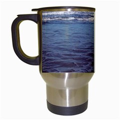 Ocean Surf Beach Waves Travel Mugs (white) by CrypticFragmentsColors