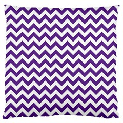 Royal Purple & White Zigzag Pattern Standard Flano Cushion Case (one Side) by Zandiepants