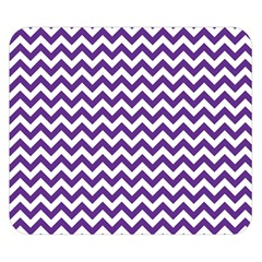 Royal Purple & White Zigzag Pattern Double Sided Flano Blanket (small) by Zandiepants