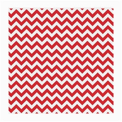Poppy Red & White Zigzag Pattern Medium Glasses Cloth by Zandiepants