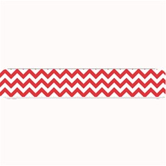 Poppy Red & White Zigzag Pattern Small Bar Mat