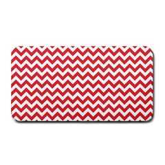 Poppy Red & White Zigzag Pattern Medium Bar Mat by Zandiepants